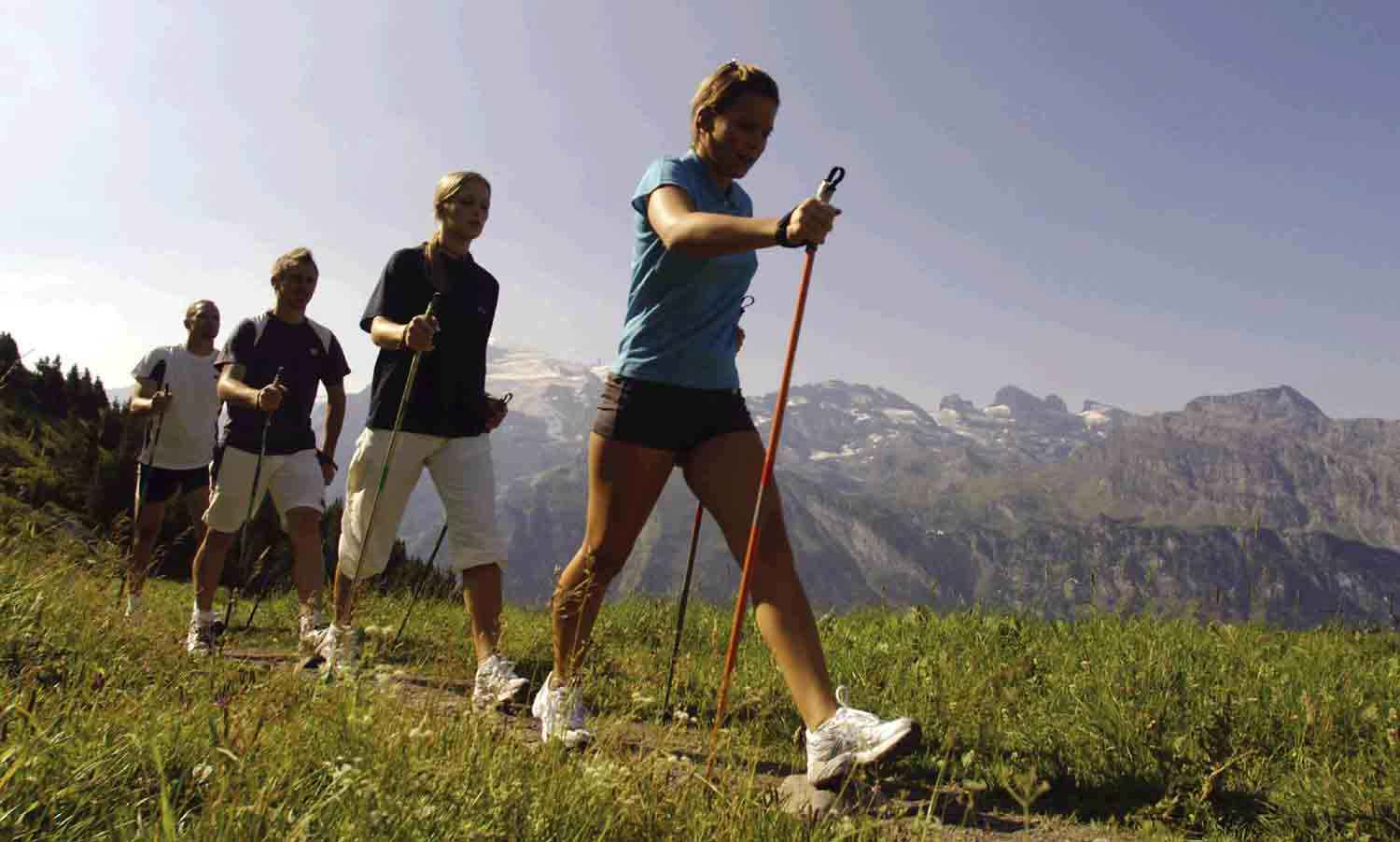 Nordic walking and Cal Miquel